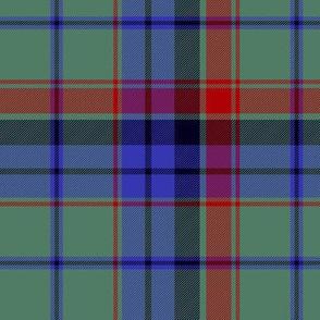 "MacInroy hunting tartan, 6"" asymmetrical"