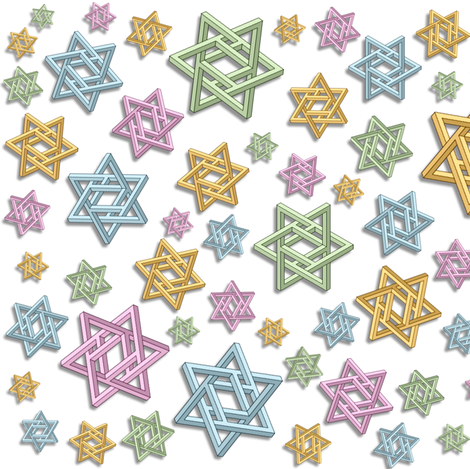 impossible stars  fabric by hypersphere on Spoonflower - custom fabric