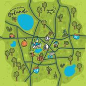 Orlando Illustrated Sketchbook Map