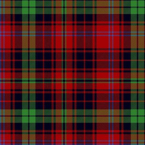 MacInroy tartan, asymmetrical red/black, 6""