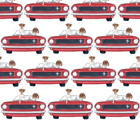 Road Dog fabric by julie0524 on Spoonflower - custom fabric