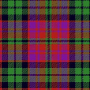 MacInroy tartan, red/purple/green, 6""