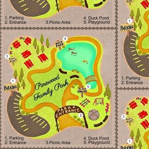 Pinewood Family Park Map