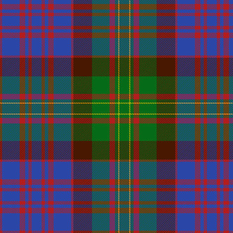 "Bowie tartan#2 , 6"" bright ancient fabric by weavingmajor on Spoonflower - custom fabric"