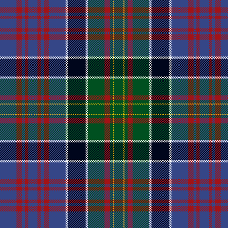 """Bowie tartan with white guards , 6"""" faded modern fabric by weavingmajor on Spoonflower - custom fabric"""