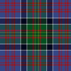 "Bowie tartan with white guards , 6"" faded modern"