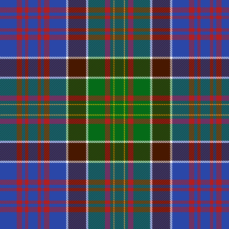 """Bowie tartan with white guards, 6"""" bright ancient fabric by weavingmajor on Spoonflower - custom fabric"""