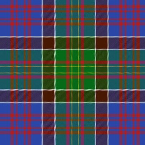 """Bowie tartan with white guards, 6"""" bright ancient"""