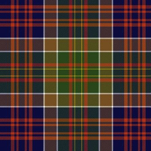 """Bowie tartan with white guards, 6"""" weathered"""