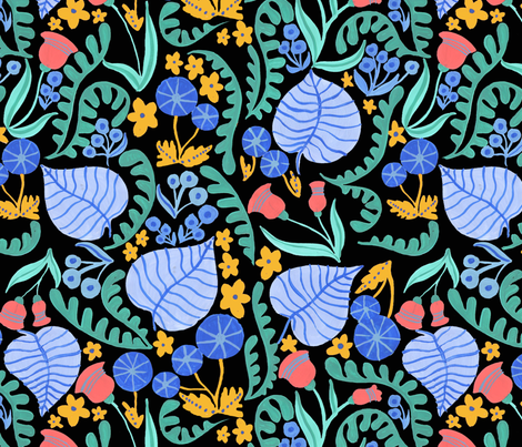 Spring Wonder Floral fabric by madelinetrait on Spoonflower - custom fabric