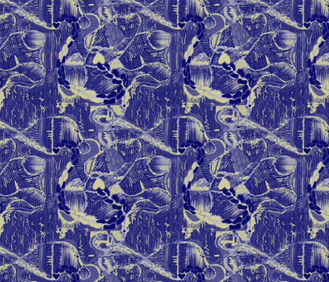Abstract Danish Blueprint Map fabric by madartes on Spoonflower - custom fabric