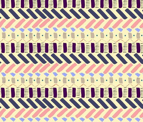 Bohem lines fabric by tonantzin_aromero on Spoonflower - custom fabric