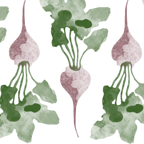 Watercolor beets fabric by lburleighdesigns on Spoonflower - custom fabric