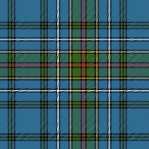"Cockburn blue tartan, 6"" ancient"