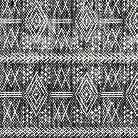 vintage moroccan (small scale) grey fabric by littlearrowdesign on Spoonflower - custom fabric