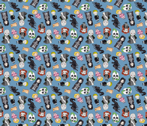 Villains fabric by helloquirky on Spoonflower - custom fabric