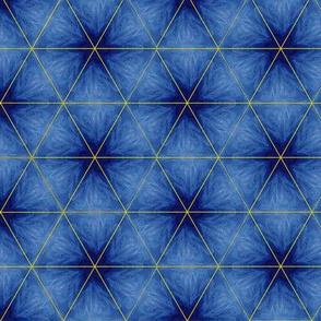 Kaleidoscope Fuzzy Stars Blue Upholstery Fabric