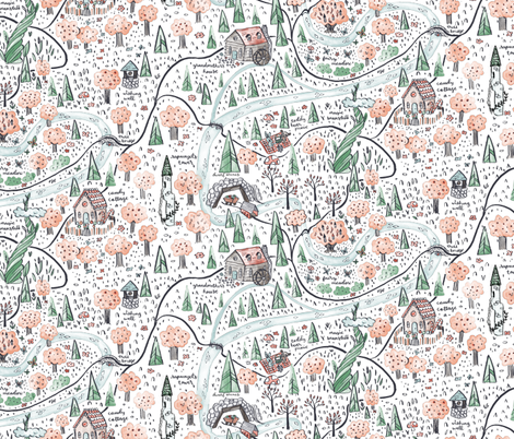 Enchanted Forest Map Fabric By Thestorysmith On Spoonflower