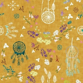 Wildflower dreams (mustard linen)
