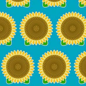 Sun Power! Golden yellow sunflower