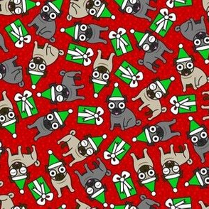 Merry Pugs (Red Small)