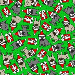 Merry Pugs (Green Small)