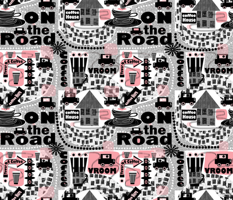Vroom, on the road again..... fabric by abstracthands on Spoonflower - custom fabric
