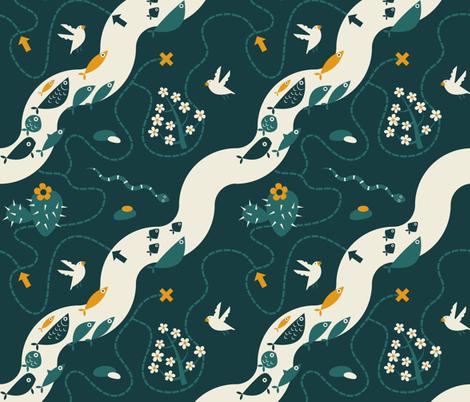 ilustrated_map_xxx6-01 fabric by caro-nika on Spoonflower - custom fabric