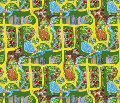 FindARabbit fabric by belana on Spoonflower - custom fabric