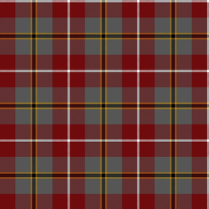 "Douglas tartan, 6"", ancient red"