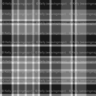 "Clergy tartan, 6"" grey"