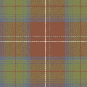 "Chisholm tartan #1, 6"" weathered"