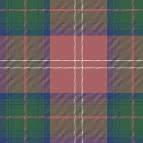 "Chisholm tartan #1, 6"" faded"