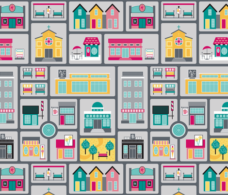 Around the Town fabric by brendazapotosky on Spoonflower - custom fabric