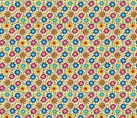 Peruvian_floral_cream fabric by artistic_visual_designer on Spoonflower - custom fabric