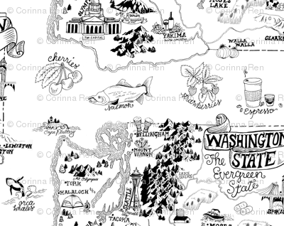 Washington Illustrated Map