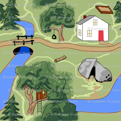 Map of Country Playground