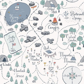 Summer Camp Magic Map