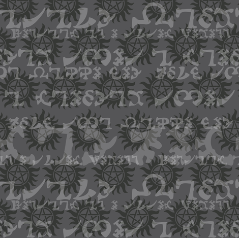 Enochian Tonal Grey fabric by costumewrangler on Spoonflower - custom fabric