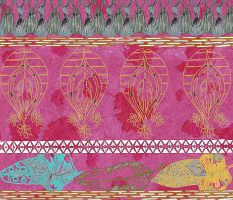 PinkMarrakech1 fabric by byoungquist on Spoonflower - custom fabric