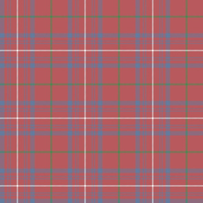 "Rose tartan, 6"" faded"