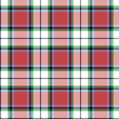 "Rose white dress tartan, 6"" faded"