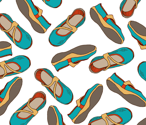 Colourful Shoes Pattern fabric by kira_culufin on Spoonflower - custom fabric