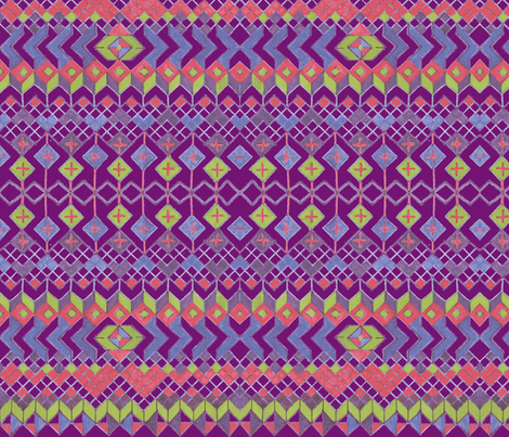 bohemian_ring_of_hearts__2_-ch fabric by andreen on Spoonflower - custom fabric