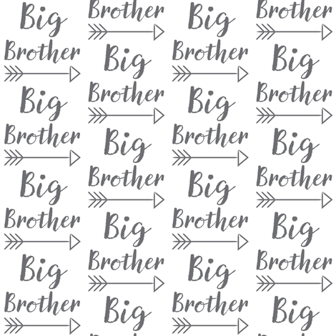 medium big-brother-with-arrow-cursive fabric by lilcubby on Spoonflower - custom fabric