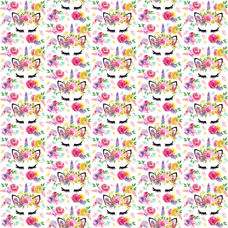 "1"" spring butterfly unicorns tiny fabric by lil'faye on Spoonflower - custom fabric"