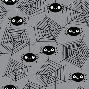 cute spiders-and-webs-cute-grey