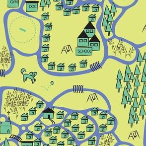 Dog Walking Map greens