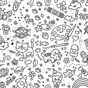 Oodles of Doodles on White
