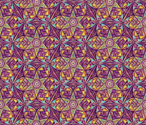 Flower of Life Pattern Fabric Purple  fabric by cveti on Spoonflower - custom fabric